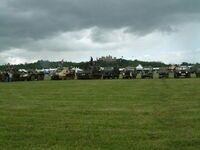 Military vehicle line up at Belvoir in 2007DSCF0236