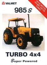 Valmet 985S MFWD ad (orange) - 1998