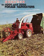 Hesston 4000 forage harvester brochure