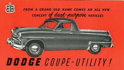 Dodge Coupe Utility (Australia) - 1954