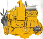 International D-554 engine 1958