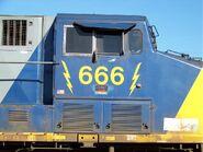 CSX 666 lettering