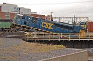 Wrecked CSX SD80MAC 2