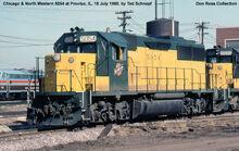CNW GP50 units with a Metra E unit