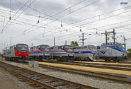 All 4 Amtrak Heritage Units (With standard P42 with current scheme)
