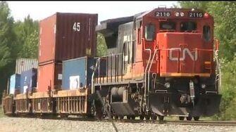 CN Train Spotting RARE!!! C40-8 DPU CN 2271 2334 & DPU 2116 Leads CN 111 West 9 21 6 21 12