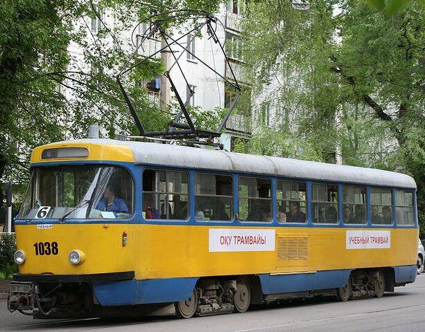 File:Tram T3 in Almaty.jpg