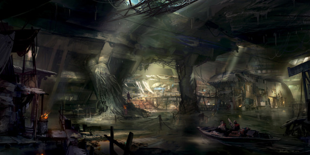 File:640x320 7251 Underground base 2d characters post apocalyptic boat city underground picture image digital art.jpg