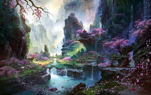 1500x938 15620 Xanadu 2d japanese landscape picture image digital art