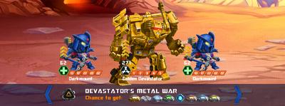T devastators metal war x golden x3