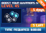 M wave2 lev45 boost your warriors iv