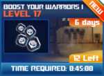 M wave7 lev17 boost your warriors i