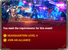 Ui event charging in requirement a