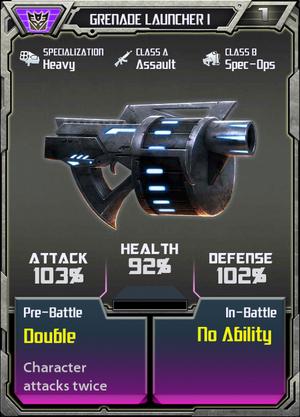 (Decepticons) Grenade Launcher I