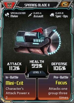 Spinning Blade II Autobot