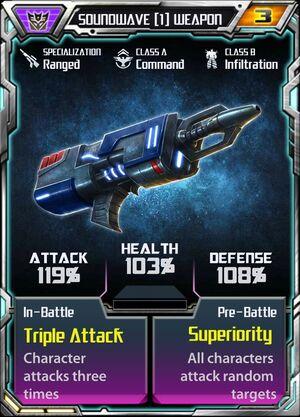 Soundwave (1) Weapon