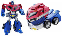 TFAnimated RolloutCommand OptimusPrime toy