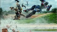 Transformers 4 Age Of Extinction - Slow Motion Chase Scene - HD