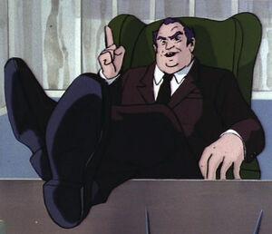 Berger at desk