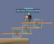 Stair Case of Floating Planks