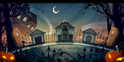Kürbisses-Nacht graveyard