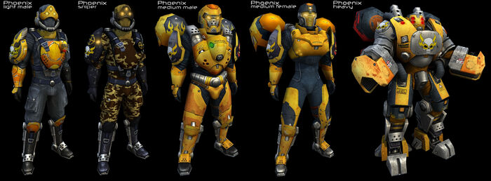 Phoenix Armors from Tribes-Vengeance