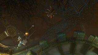 Spider being killed by Zoya
