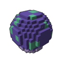 Interactive ball mushroom purple