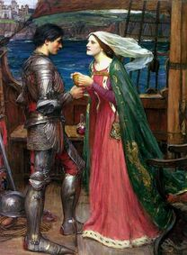 Waterhouse tristan and isolde sharing the potion
