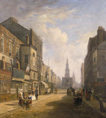 File:The Strand, Looking Eastwards from Exeter Change, c1824.jpg