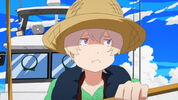 Tsuritama-05-haru-fume-puffed cheeks-fishing-hat