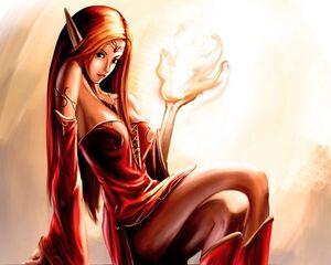 Fire elf girl