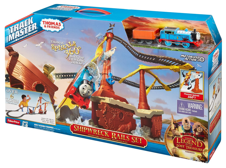 Fisher price thomas amp friends trackmaster treasure chase set new - Trackmaster Revolution Shipwreckrailssetbox