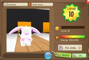 Profile view of a level 10 Albino Bunny