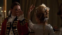 John André dances with Peggy Shippen