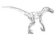 Turok Rage Wars Character Wireframe Velociraptor