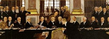 William Orpen – The Signing of Peace in the Hall of Mirrors, Versailles 1919, Ausschnitt-1-