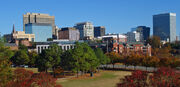 Fall skyline of Columbia SC from Arsenal Hill-1-