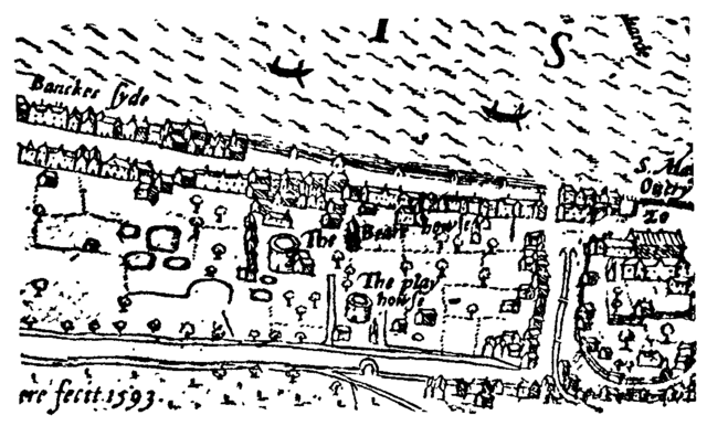 File:Bankside - the Bear Garden and the Rose Theatre - Norden's Map of London, 1593-1-.png