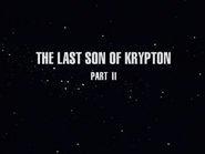 The Last Son of Krypton pt. 2 title
