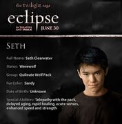 Seth Clearwater Twiligth Eclipse