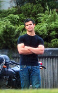 Eclipse jacob black taylor on set