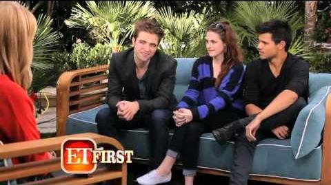 Entertainment Tonight Interview with Taylor Lautner, Kristen Stewart and Robert Pattinson