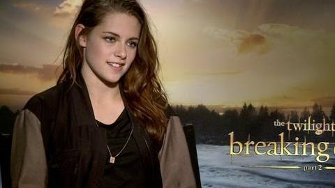 Kristen Stewart talks The Twilight Saga Breaking Dawn Part 2