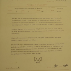 Physician's report for Margaret Coulson