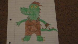 Lloyd The Albino Alligator Drawing