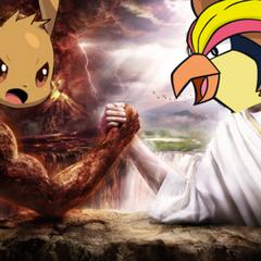 Bird Jesus arm wrestling with <a href=