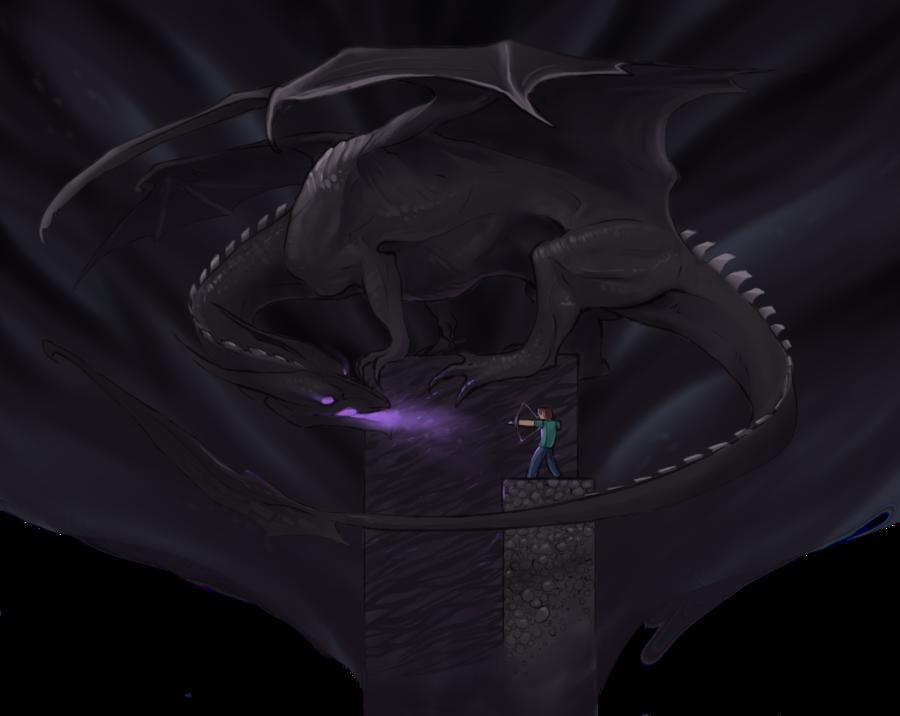 Image Ender Dragon Vs Steve Png Twitterponies Wiki