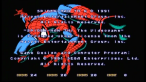 Spider-Man The Game Screen