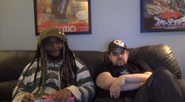 The Baz in Divekick Matt and Woolie